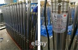 2-WIRE 4.5 GPM@65 FT 2 SUBMERSIBLE SINGLE PHASE 120V 60Hz 1/3 HP DEEP WELL PUMP