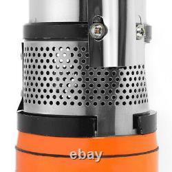 350W Screw Submersible Pump DC 48V/60V 99 FT Water Flow 3-5M³/H Deep Well Pump