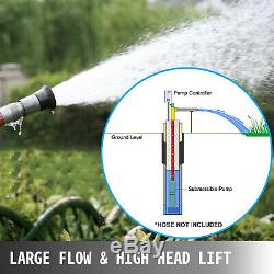3HP Deep Well Pump 630FT 42GPM 230V Submersible Stainless Steel with Control Box