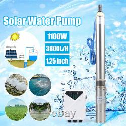 3 1.5HP DC Deep Bore Well Submersible Solar Water Pump Kit with MPPT Controller