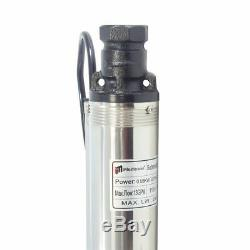 3/4 HP Deep Well Submersible Pump, 3, 230V, 13 GPM, 247 ft MAX, 60Hz, 33'' Cord