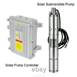 3 DC 140W Solar Deep Water Well Pump 24V S/Steel Submersible + MPPT Controller