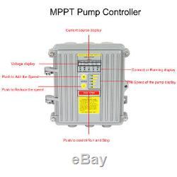 3 DC Screw Submersible Deep Well Solar Water Pump 140W /400W with MPPT Controller