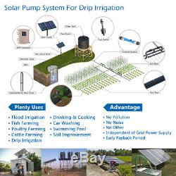 3 DC Solar Water Pump S/S Impeller Deep Well 1500W Submersible with Controller