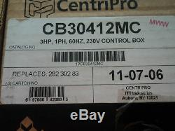 3 HP DELUXE CentriPro Goulds WATER WELL SUBMERSIBLE PUMP CONTROL BOX CB30412MC