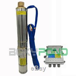 3 Inch, DC 48V Solar Deep Well Submersible Water Pump 1100W With Controller