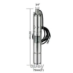 400W DC36V Solar Water Pump 3/4 Stainless Steel Submersible Deep Well Pump MPPT