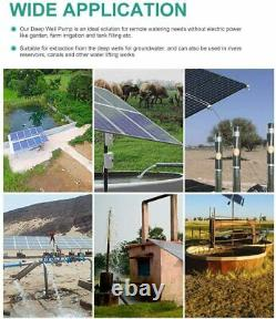 400W Solar Panel+Deep Bore Well Water Pump Submersible Kit +30AH LiFePO4 Lithium