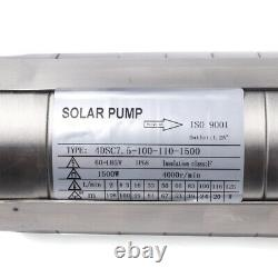 4DC Solar Water Pump 110V 1500W Submersible +MPPT Controller Deep Bore Well 79m