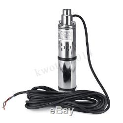 60M 280W 24V Stainless Steel Solar Submersible Water Deep Well Pump Power Saving