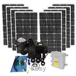 800W Solar Panel & 500W Solar Swimming Pool Filter / Heating Pump With Controller