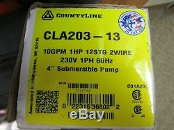 Countyline 1HP 10GPM 230V 2-Wire 4 Submersible Well Pump CLA203-13 BRAND NEW