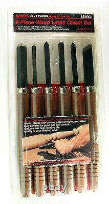 Craftsman 6-Piece Wood Lathe Chisel Set 28553 Made in USA Brand New