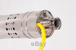 DC12V 3000L/H Stainless Steel DC Submersible Well Pump Water Pump 30M Lift Max