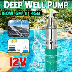 DC12V 45M Lift Max Flow 6M³/H Strong Deep Well Pump Solar Submersible Water Pump