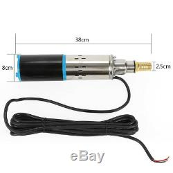 DC12V Deep Well Submersible Water Pump 180W Screw Pump, Stainless Steel