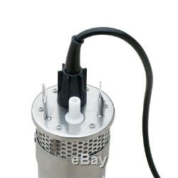 DC12V Stainless Shell Submersible Deep Well Bore Water Pump Solar Battery System
