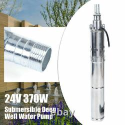 DC24V 370W Brushless Solar Water Pump Deep Well Submersible Stainless Pump65m 1