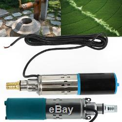 DC 12V 25M Head Submersible Pump Deep Well Water Pump Stainless Steel US