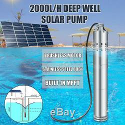 DC 24V 2m3/H Solar Powered Water Pump Farm&Ranch Submersible Bore Hole Deep Well