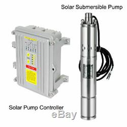 DC 36V Submersible Deep Well Water Pump 1/2HP 3 Inch Solar Screw Pump, Stainless
