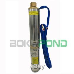 DC 72V Solar Brushless Submersible Deep Well Pump 3 Inch, 164FT Max Lift, 1320GPH