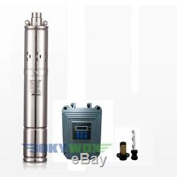 DC24V Brushless Solar Powered Screw Deep Well Submersible Water Pump 240W,SS304