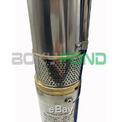 DC 96V Solar Brushless Deep Well Submersible Pump 1300W Centrifugal Water Pump