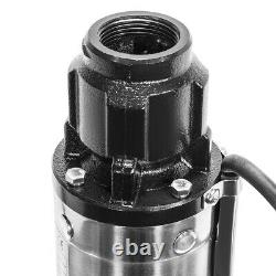 Deep Well Pump 200FT 1HP Submersible sub 33GPM Stainless Steel garden irrigation
