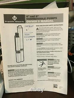 Deep Well Submersible Pump 2hp Franklin Electric 3 Phase Pump 1 Phase Controller
