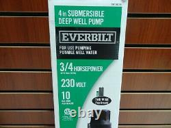 Everbilt Flanges 3/4 HP Submersible 2-Wire 10 GPM Deep Well Pump EFSUB7-122HD