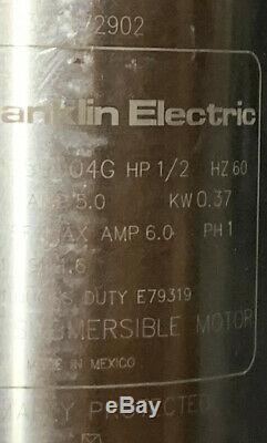 FRANKLIN 1/2 HP Deep Well Submersible Pump Motor Super Stainless 2145059004G