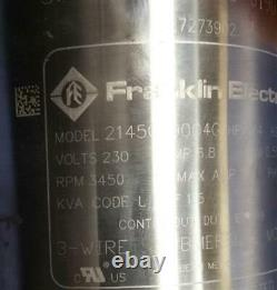Franklin 4 Deep Well Submersible Motor 3/4-HP 230V 1ph 3-Wire 2145079004G NEW
