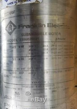 Franklin Electric 8 Submersible Pump Motor Model 2396026021 One Motor