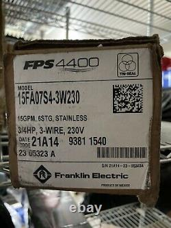 Franklin Electric FPS 4400 Tri-Seal 10FA07S4-3W230 Submersible Well Pump & Motor