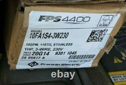 Franklin Electric FPS 4400 Tri-Seal 10FA1S4-3W230 Submersible Well Pump & Motor