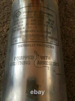 Franklin Electric Submersible 4 Deep Well Pump 1/2 hp 230V GOULDS 7LS05412