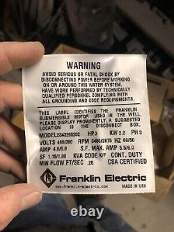 Franklin electric submersable well pump motor