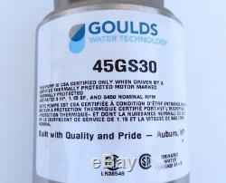 Goulds 45GS30 Submersible Water Well Pump End 3HP 10 Stages 4 H. C. SUB