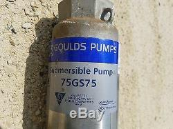 Goulds Submersible Water Well Pump 75GPM 7.5HP