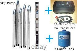 Grundfos 3 Constant Pressure Submersible Well Pump 22SQE10 190 1HP CU301 KIT