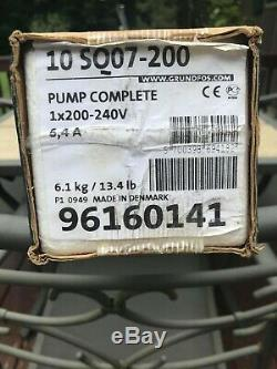 Grundfos 3 in Subsmersible Pump 96160141 10SQ07-200 3/4hp 200-240v