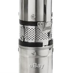 Long life New Deep Well Submersible Pump, 4, 2HP, 220V, 230V, 35GPM/400' ft MAX