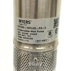 MYERS Predator Plus 2ST102-12PLUS-P4-2 4 Submersible Pump New Stainless Steel
