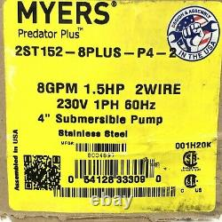 MYERS Predator Plus 2ST152-8PLUS-P4-2 4 Submersible Pump New Stainless Steel