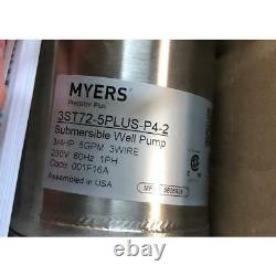 Myers 3st72-5plus-p4-2 3/4hp/5gpm Stainless Steel 4 Submersible Well Pump