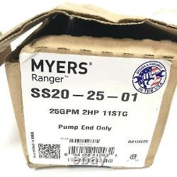 Myers Ranger SS20-25 4 Submersible Well Pump End New 25 GPM 2 HP 11 STG