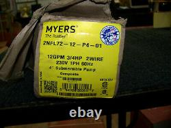 Myers The Ruslter 12GPM 3/4HP 2W 230V 1Ph 60Hz 4 Submersible Pump 2NFL7212P401