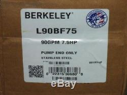 NEW Berkeley L90BF75 4 Submersible Well Pump End Only 90GPM Series Stainless ss