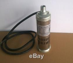 New 12V DC 264W Solar Submersible Water Well Pump 3m³/hour M123T-20 20m Head